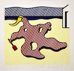 ACADEMIA GRANDE INGLES Roy Lichtenstein Nude on Beach From Surrealist Series